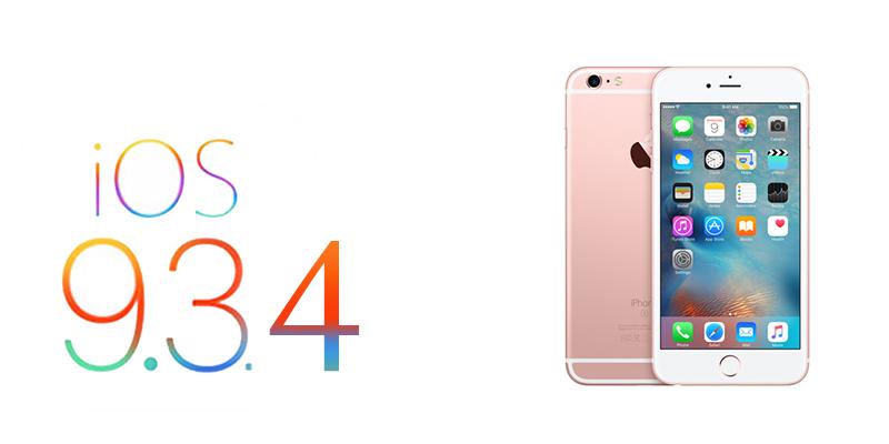 iOS 9.3.4 Güncellemesi Yayınlandı