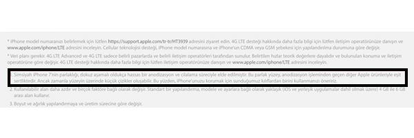 Apple Siyah iPhone için Uyardı!