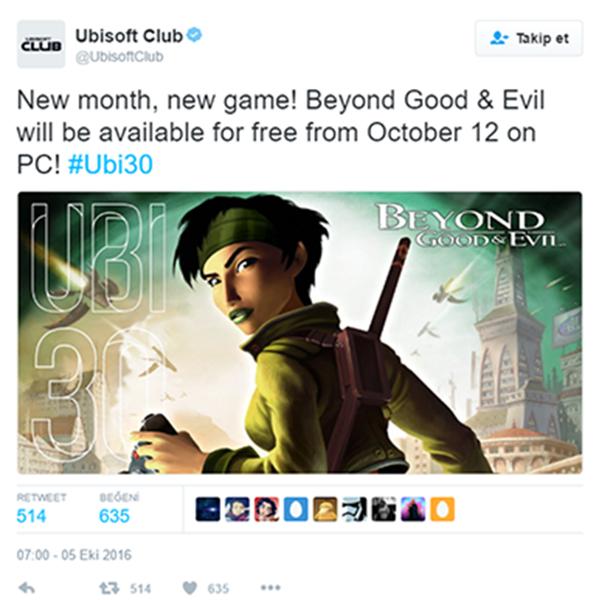 Ubisoft Bedava Oyun Vermeye Devam Ediyor!